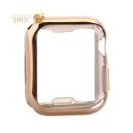 Чехол силиконовый TPU & защита экрана 360° COTEetCI для Apple Watch Series 5/ 4 (CS7059-GD) 40 мм Золотистый