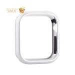 Чехол алюминиевый бампер COTEetCI магнитная рамка для Apple Watch Series 5/ 4 (CS7058-TS) 44 мм Серебристый