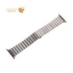 Ремешок блочный-полоса из нержавеющей стали COTEetCI W25 застежка бабочка (WH5237-TS) для Apple Watch 40 мм/ 38 мм Серебристый