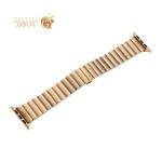 Ремешок блочный-полоса из нержавеющей стали COTEetCI W25 застежка бабочка (WH5238-GD) для Apple Watch 44 мм/ 42 мм Золотистый