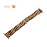 Ремешок блочный-спираль из нержавеющей стали COTEetCI W26 застежка бабочка (WH5240-GD) для Apple Watch 44 мм/ 42 мм Золотистый