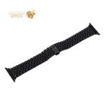 Ремешок блочный-цепочка из нержавеющей стали COTEetCI W27 застежка бабочка (WH5241-BK) для Apple Watch 40 мм/ 38 мм Черный
