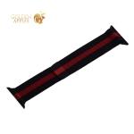 Ремешок из нержавеющей стали COTEetCI W6 MAGNET Band (WH5202-BR) для Apple Watch 40 мм/ 38 мм Черный - красный