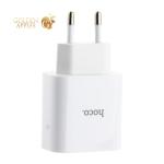Адаптер питания Hoco C57A Speed charger PD+QC 3.0 (USB: 5V max 3.1A/ 18Вт) Белый