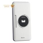 Аккумулятор внешний универсальный Baseus Simbo Smart (USB: 5V-2.1A, Type-C: 5V-2.4A) (PPALL-AQB02) 10000 mAh Белый