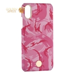 Чехол-накладка KINGXBAR для iPhone X (5.8) пластик со стразами Swarovski (Розовый камуфляж)