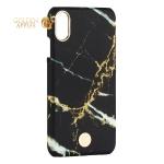 Чехол-накладка KINGXBAR для iPhone X (5.8) пластик со стразами Swarovski (Мрамор-черный)