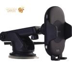 Автомобильное беспроводное Qi зарядное устройство Deppa Crab Qi Fast Charge D-55156 для 4.0-6.5 (5V/ 2.0A 5-10W) Черный