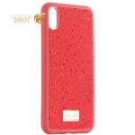Чехол-накладка силиконовая со стразами SWAROVSKI Crystalline для iPhone XS Max (6.5) Красный №4