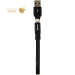 USB дата-кабель Baseus Two-IN-One Portable Cable (Android/ iOS) Lightning/ MicroUSB (CALMBJ-01) (0.23 м) Черный