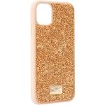 Чехол-накладка силиконовая со стразами SWAROVSKI Crystalline для iPhone 11 (6.1) Золотой