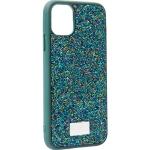 Чехол-накладка силиконовая со стразами SWAROVSKI Crystalline для iPhone 11 (6.1) Темно-зеленый №2