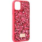 Чехол-накладка силиконовая со стразами SWAROVSKI Crystalline для iPhone 11 (6.1) Красный №5