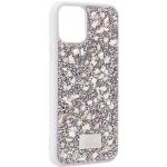 Чехол-накладка силиконовая со стразами SWAROVSKI Crystalline для iPhone 11 Pro (5.8) Светло-серый №2