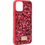 Чехол-накладка силиконовая со стразами SWAROVSKI Crystalline для iPhone 11 Pro (5.8) Красный №5