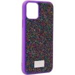Чехол-накладка силиконовая со стразами SWAROVSKI Crystalline для iPhone 11 Pro (5.8) Ультрафиолет №2