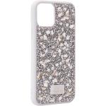 Чехол-накладка силиконовая со стразами SWAROVSKI Crystalline для iPhone 11 Pro Max (6.5) Светло-серый №2
