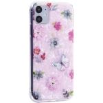Чехол-накладка пластиковый Fashion Case для iPhone 11 (6.1) с силиконовыми бортами Розовый вид №5