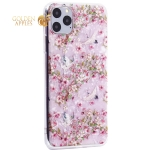 Чехол-накладка пластиковый Fashion Case для iPhone 11 Pro Max (6.5) с силиконовыми бортами Розовый вид №1