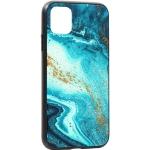 Чехол-накладка закаленное стекло Deppa Glass Case D-87263 для iPhone 11 (6.1) 2.0мм Голубой Агат