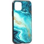 Чехол-накладка закаленное стекло Deppa Glass Case D-87253 для iPhone 11 Pro (5.8) 2.0мм Голубой Агат