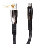 USB дата-кабель Hoco U70 Splendor charging data cable for MicroUSB (1.2м) (2.4A) Темно-серый