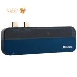 Переходник Baseus Transparent Series 5в1 (CAHUB-TSO3) Dual Type-C to USB3.0x2/Type-Cx2/ 4K HDMI для MacBook Синий