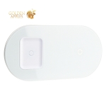 Беспроводное зарядное устройство Baseus Simple 2in1 (Phone+Phone/ Phone+Pods) Wireless Charger 18W (WXJK-02) Белый
