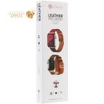 Ремешок кожаный COTEetCI W36 Fashoin Leather (WH5261-40-ACR) для Apple Watch 40 мм/ 38 мм (Long) Желтый-Красный