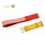 Ремешок кожаный COTEetCI W36 Fashoin Leather (WH5261-44-ACR) для Apple Watch 44 мм/ 42 мм (Long) Желтый-Красный