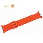 Ремешок кожаный COTEetCI W7 Leather Magnet Band (WH5206-OR) для Apple Watch 44 мм/ 42 мм Оранжевый