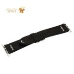 Ремешок кожаный COTEetCI W33 Fashion LEATHER классическая пряжка (WH5257-BK-42) для Apple Watch 44 мм/ 42 мм Черный