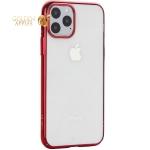 Чехол-накладка пластиковый X-Level для iPhone 11 Pro (5.8) Красный глянцевый борт