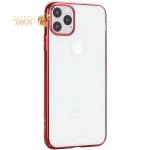Чехол-накладка пластиковый X-Level для iPhone 11 Pro Max (6.5) Красный глянцевый борт