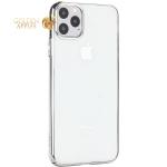 Чехол-накладка пластиковый X-Level для iPhone 11 Pro Max (6.5) Серебристый глянцевый борт