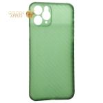 Чехол-накладка карбоновая K-Doo Air Carbon 0.45мм для iPhone 11 (6.1) Зеленая