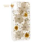 Чехол-накладка силиконовая K-Doo Flowers TPU + Dried Flowers + Lucite для iPhone X (5.8) Желтая