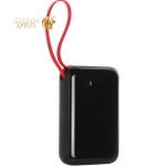 Аккумулятор внешний универсальный Baseus Mini S 15W (USB: 5V-3A & IP cable: 5V-2.1A) (PPXF-B01) 10000 mAh Черный