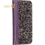 Чехол-книжка со стразами SWAROVSKI Crystalline для iPhone 11 (6.1) Фиолетовый