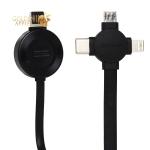 USB дата-кабель Baseus 4в1 Wireless Charging (Lightning+Type-C+MicroUsb+Apple Watch) (CA1T4-J0G) 0.18м Черный