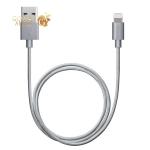 USB дата-кабель Deppa ALUM MFI 8-pin Lightning алюминий/ нейлон D-72189 (1.2м) Графитовый