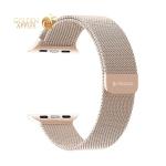 Ремешок из нержавеющей стали Deppa Band Mesh D-47150 для Apple Watch 44 мм/ 42 мм Розовое-золото
