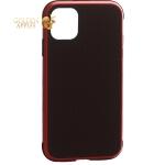Чехол-накладка противоударная K-Doo Hera (Metal+TPU+PC) для iPhone 11 (6.1) Красно-черный