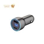 Разделитель автомобильный Deppa D-11294 USB A + USB-C PD QC3.0 36W дисплей алюминий Графитовый