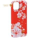Чехол-накладка силикон Luxo для iPhone 11 Pro (5.8) 0.8 мм с флуоресцентным рисунком Цветы Розовый