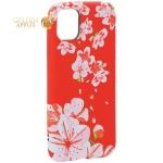 Чехол-накладка силикон Luxo для iPhone 11 (6.1) 0.8 мм с флуоресцентным рисунком Цветы Розовый