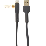 USB дата-кабель Baseus Silica Gel cable for Lightning 2.4А (CALGJ-01) (1.0 м) Черный