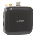 Переходник Baseus Fully folded portable 4-in-1 Type-C HUB (CAHUB-DW01) Type-C to USB2.0x4/ Type-C Черный