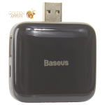 Переходник Baseus Fully folded portable 4-in-1 USB HUB (CAHUB-CW01) USB to USB2.0x4 Черный