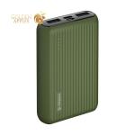 Аккумулятор внешний универсальный Deppa NRG 10000 mAh power bank Color D-33567 (2xUSB: 5В-2.4A) Зеленый